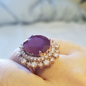 Jewelry - ruby ring with diamonds